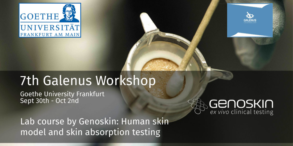 Illustration of a topical administration on NativeSkin® assay for the 7th Galenas Workshop